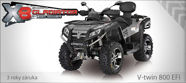 Gladiator X8 V-twin EFI EPS